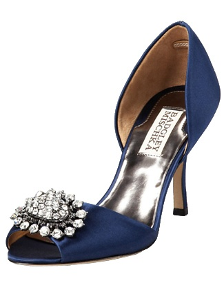 Royal Blue Peep Toe Heel Brand Badgley Mischka