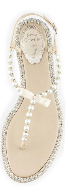 rene caovilla beach wedding shoes