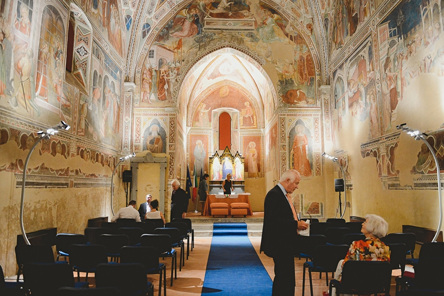 Ceremony for the wedding in italy