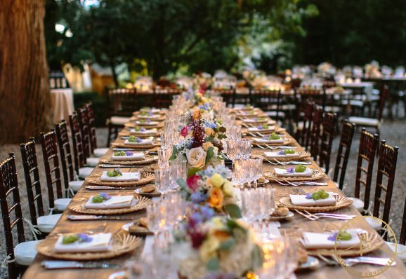 Boho French wedding in Tuscany
