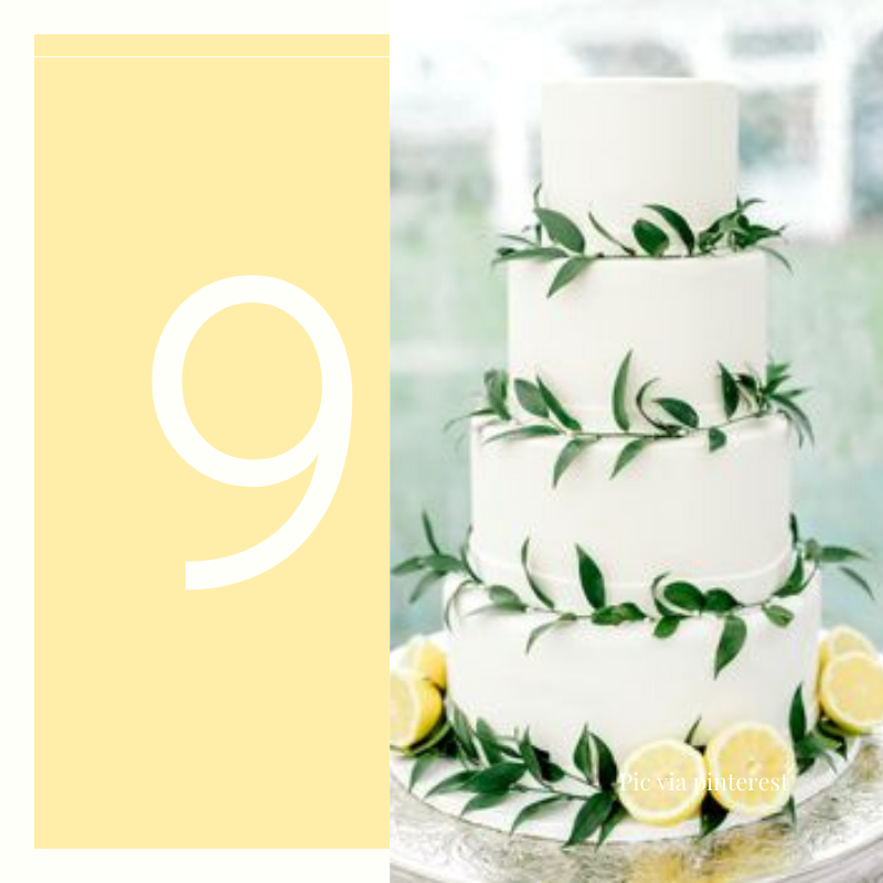 lemons wedding cake