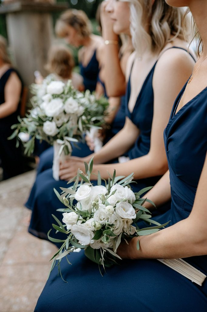 bridesmaids boquet tuscan inspiration