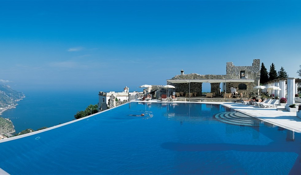 ravello wedding - destination wedding in ravello - wedding in ravello infinity pool